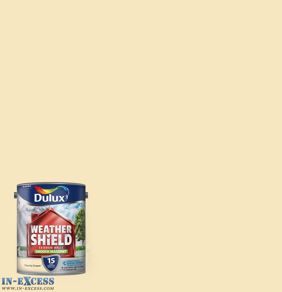 Dulux Weather Shield Exterior Walls Masonry Paint - Textured Country Cream 5 Litre