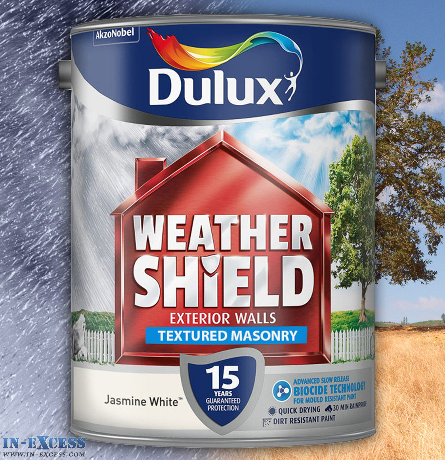 Dulux Weather Shield Exterior Walls Masonry Paint Textured Jasmine