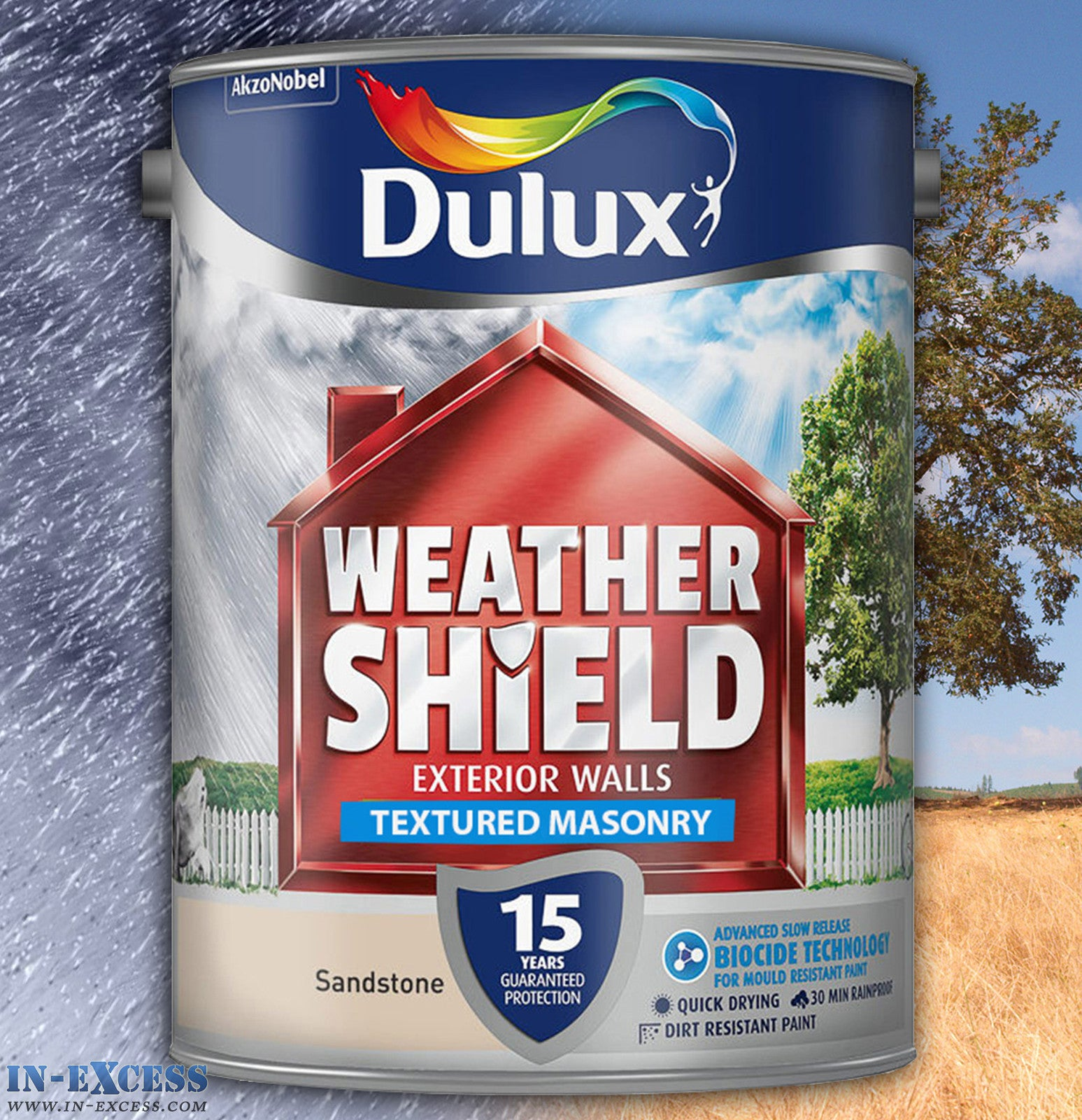 Dulux Weather Shield Exterior Walls Masonry Paint Textured Ashen Whi In Excess Direct