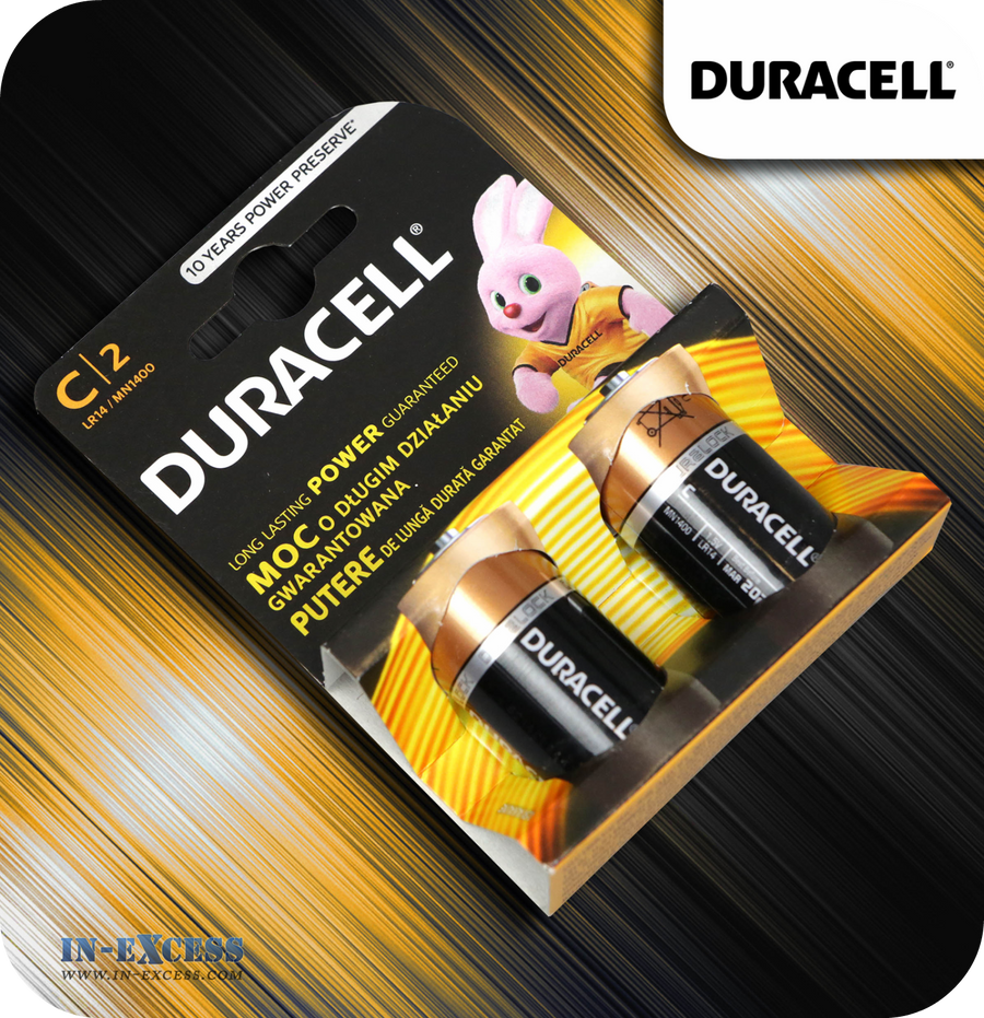 Duracell C Alkaline Batteries - Pack of 2