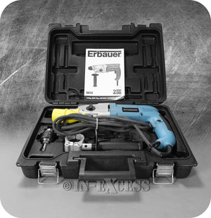 Erbauer SDS Plus Rotary Electric Hammer Drill 110V Power Tool With Carry Case - 710W