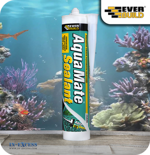 EverBuild Aqua Mate Clear Aquarium Silicone Sealant - 295ml