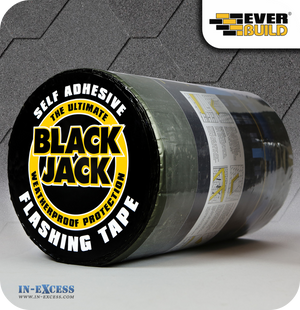 EverBuild Black Jack Self Adhesive Flashing Tape 225mm - 10 Metres
