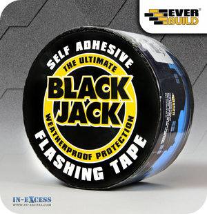 EverBuild Black Jack Self Adhesive Flashing Tape 75mm - 10 Metres