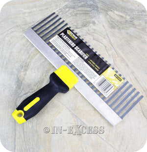 EverBuild Builders Brand Steel Soft Grip Plasterers Scarifier Tool - 300mm