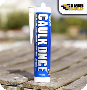 EverBuild Caulk Once Flexible Filler White - 295ml