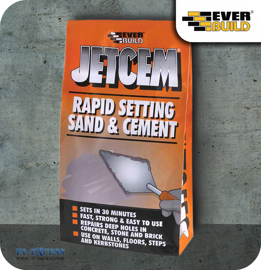 EverBuild Jetcem Rapid Setting Sand and Cement - 2kg