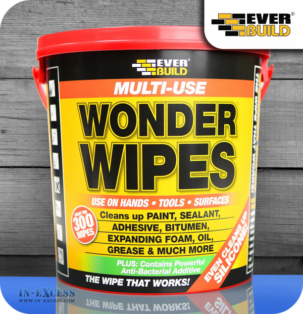 Everbuild Multi Use Wonder Wipes 300 Wipes In Excess