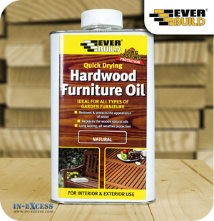 EverBuild Quick Drying Hardwood Furniture Oil - 1 Litre Natural