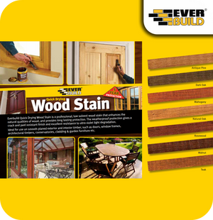 EverBuild Quick Drying Satin Wood Stain 750ml - Walnut