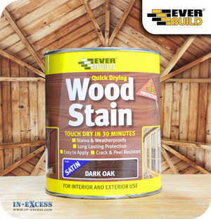 EverBuild Quick Drying Satin Wood Stain 750ml - Dark Oak
