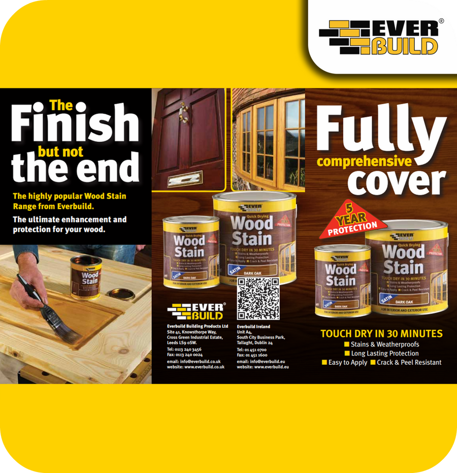 EverBuild Quick Drying Satin Wood Stain 750ml - Antique Pine