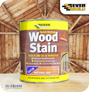 EverBuild Quick Drying Satin Wood Stain 750ml - Natural Oak