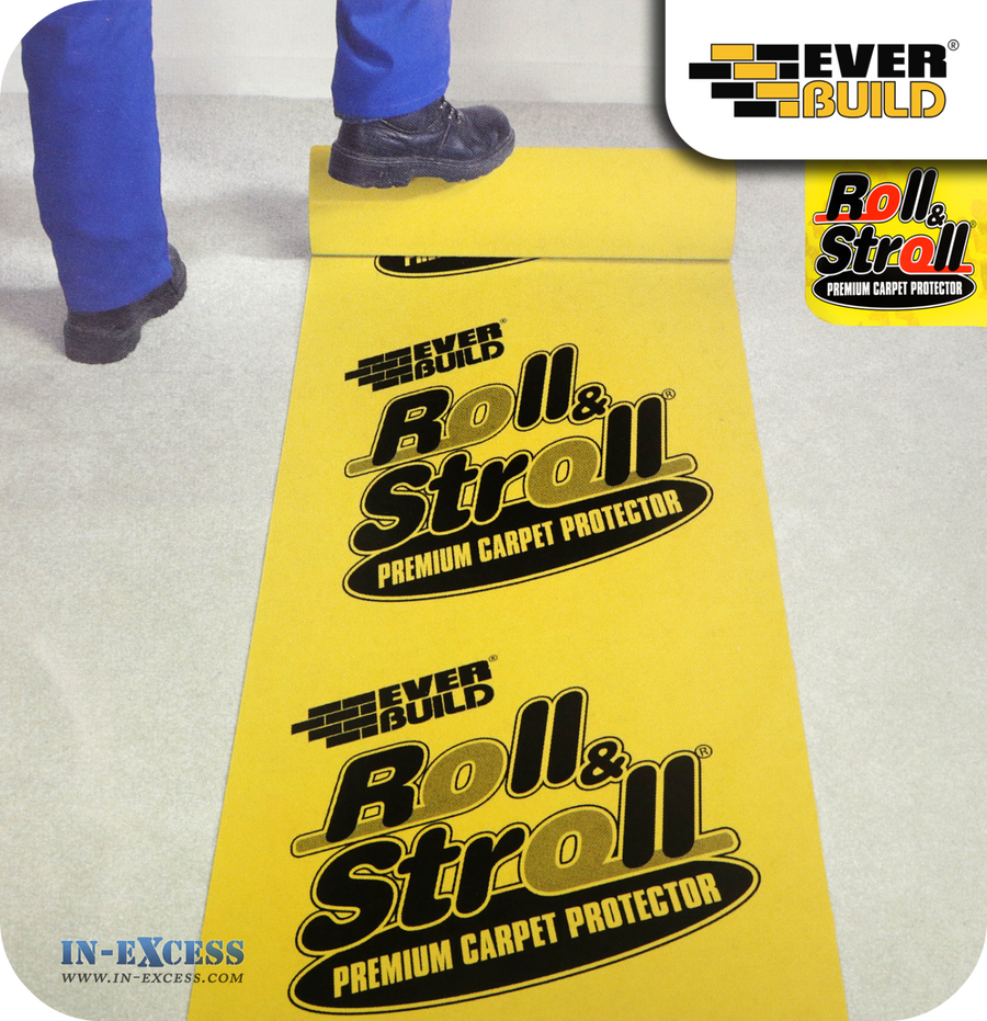 EverBuild  Roll & Stroll Premium Carpet Protector - 25 Metre Roll