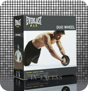 Everlast FIT Classic AB Work Equipment Men's Fitness Duo Wheel