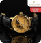 Excelsior Anjelica Mechanical Wrist Watch With Synthetic Leather Strap  - Black & Gold