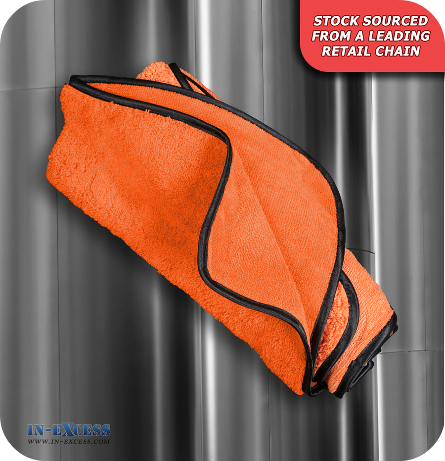 Extra Thick Microfibre Drying Towel - Orange