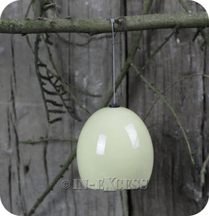 Fat Snax Ceramic Fat Ball Feeder For Wild Birds BTO Approved - Cream