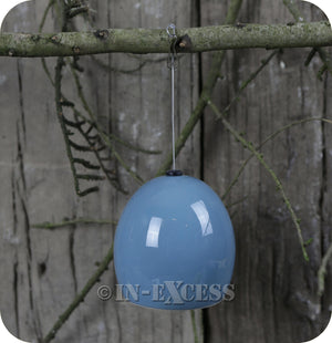 Fat Snax Ceramic Fat Ball Feeder For Wild Birds BTO Approved - Duck Egg Blue