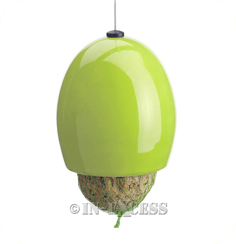 Fat Snax Ceramic Fat Ball Feeder For Wild Birds BTO Approved - Lime
