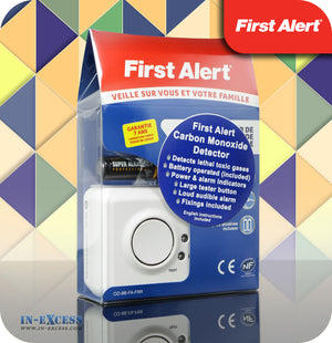 First Alert Longlife Battery Powered LED Carbon Monoxide Alarm - First Alert CO-FA-9B