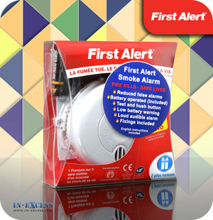 First Alert Longlife Battery Powered Optical Smoke Alarm - First Alert SA700LUK