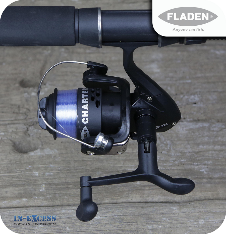 Fladen Charter 320 Front Drag Spinning Fishing Reel With Spool & Line 421-120