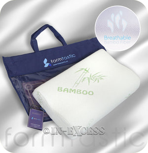 Formtastic Contoured Sleep Easy Hypoallergenic & Antibacterial Memory Foam Bamboo Pillow