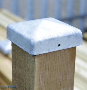 Galvanised Steel Post Cap - 84x84mm