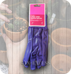 Gardener's Garden Ladies Water Resistant Purple Gloves - One Size