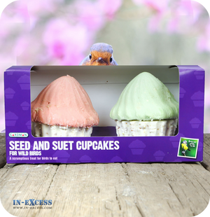 Gardman Seed and Suet Cupcakes - Pack of 2