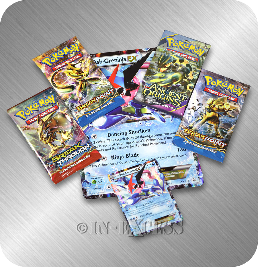 Pokemon Trading Card Game Ash Greninja EX Box Set TCG Booster Pack Online Code
