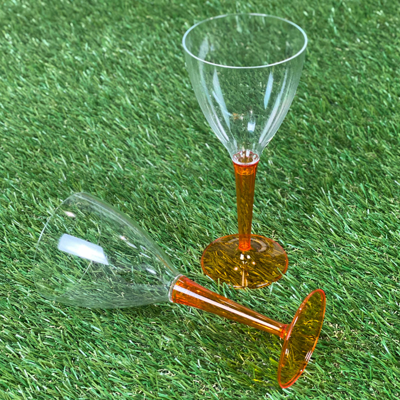 Mozaik Outdoor Picnic Party Wine Glasses- Pack of 6 - Orange