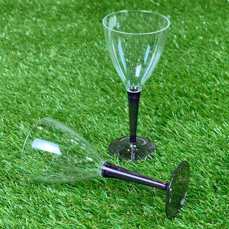 Mozaik Outdoor Picnic Party Wine Glasses- Pack of 6 - Purple