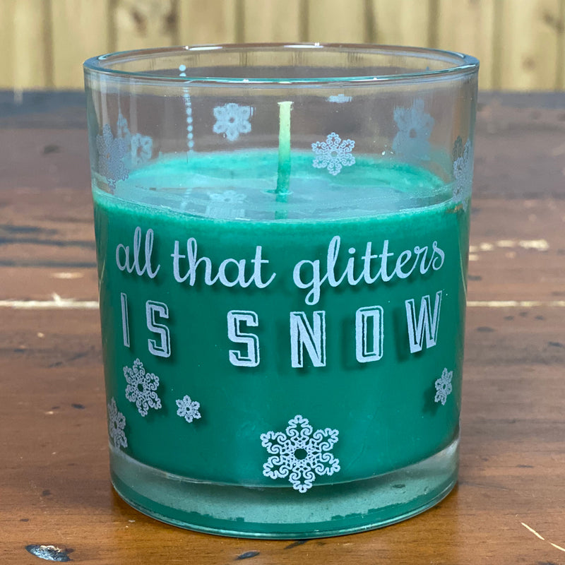 All that Glitters is Snow  Holly Berry Green Candle