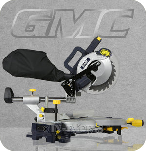 GMC Electric Double Bar Sliding Laser Cut Mitre Chop Saw 210mm - 1800W