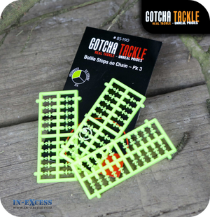 Gotcha Tackle Boilie Stops on Chain - Pack of 3