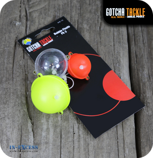 Gotcha Tackle Assorted Bubble Floats - Pack of 3