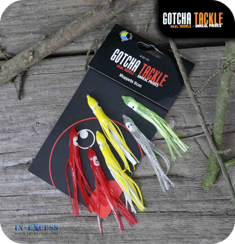 Gotcha Tackle Muppets 90mm - Pack of 6