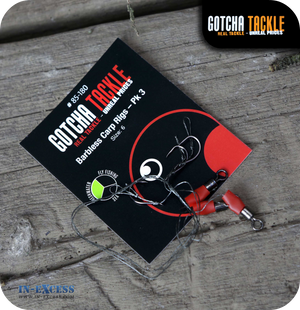 Gotcha Tackle Barbless Carp Rig Size 6 - Pack of 3