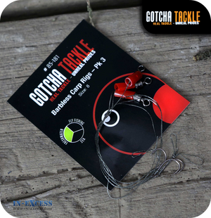 Gotcha Tackle Barbless Carp Rig Size 8 - Pack of 3