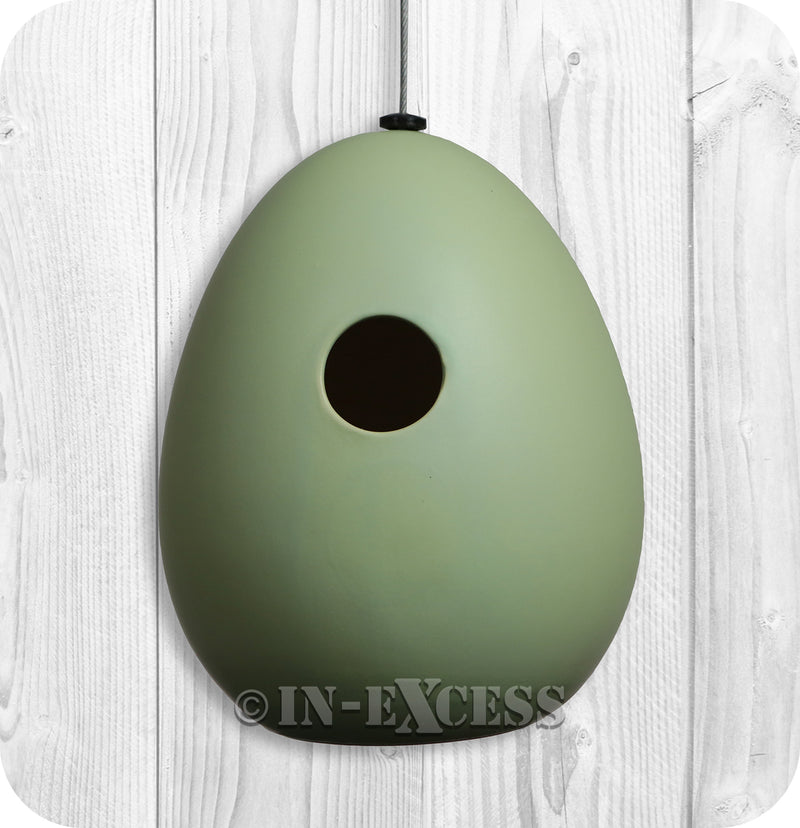 Photo of Porcelain Green Bird House Front