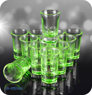 Green Tinted Shot Glass