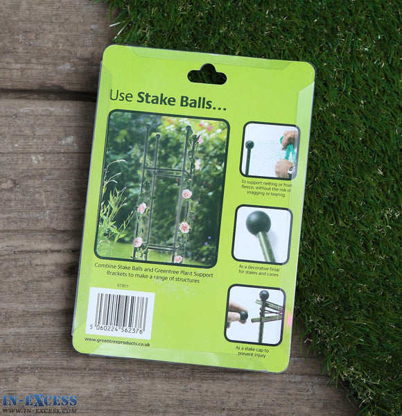 Green Tree Gro-Stake Balls 11mm Dia Stakes Netting Fleece 16 Pack