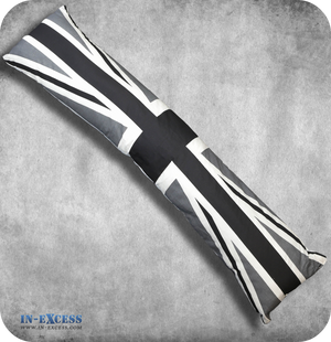 Greyscale Union Jack Draught Excluder