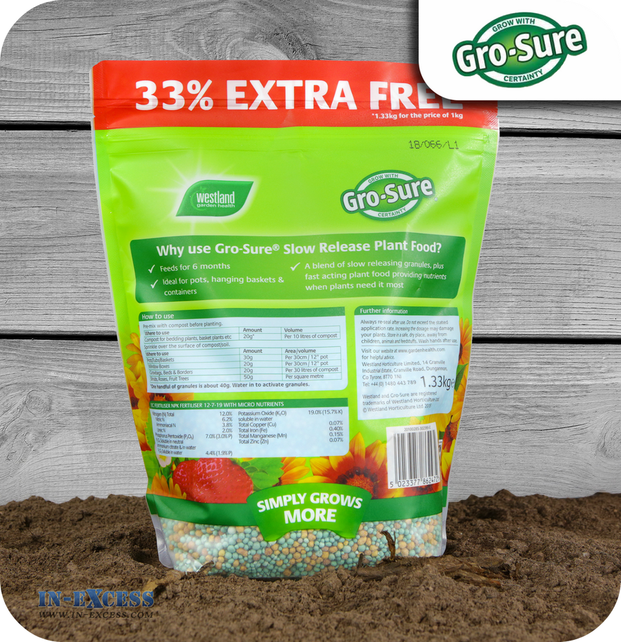 Westland Gro-Sure Slow Release Plant Food - 1.33kg