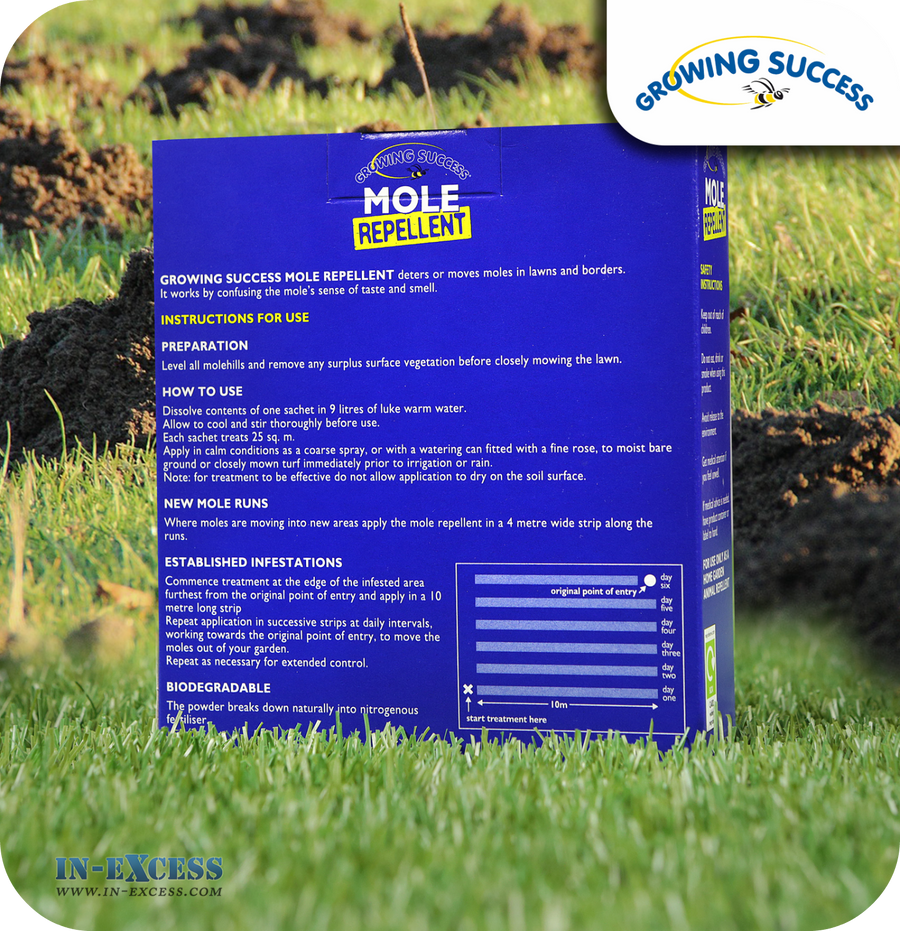 Growing Success Mole Repellent Powder - 100g