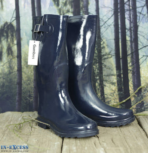 Gumbies Ladies Navy Wellington Boots Sizes 6, 7 & 8