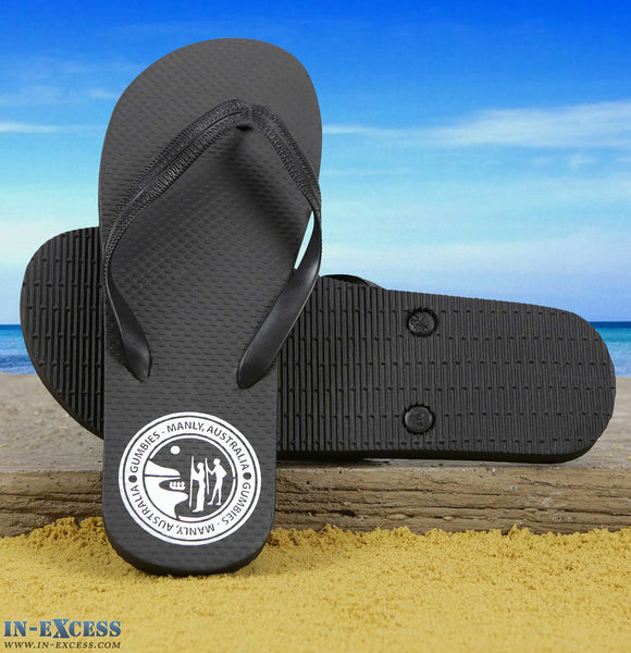 Gumbies EVA Flip Flops - Black UK8-12