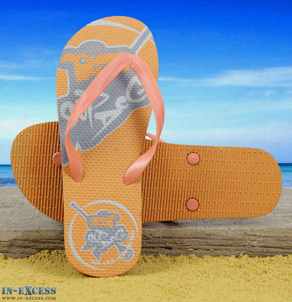 "Gumbies EVA Flip Flops - Orange ""Sup Dog"" UK8-12"